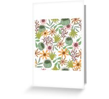 floral pattern exotik flowers Greeting Card