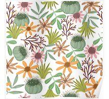 floral pattern exotik flowers Poster
