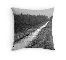 Straight on to Nowhere Throw Pillow