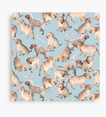 Too Many Puppies Canvas Print
