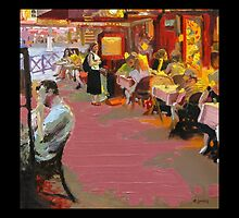 Waiting for Him at the Cafe Rue De Batignolles by Jeffery Sparks