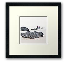 3 walkers Framed Print