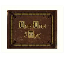 Once Upon A Time Book Art Print