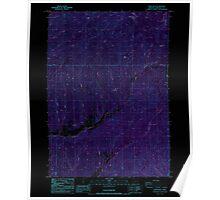 USGS Topo Map Oregon White Rock 282071 1987 24000 Inverted Poster