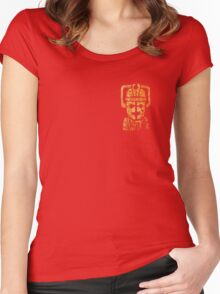 Rusty the Cyberman, Small Chest Emblem Women's Fitted Scoop T-Shirt