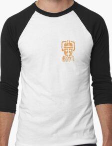 Rusty the Cyberman, Small Chest Emblem Men's Baseball ¾ T-Shirt