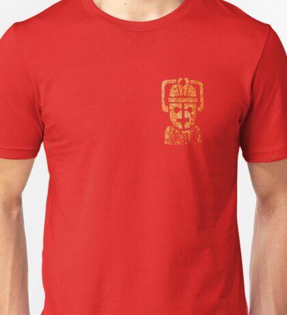 Rusty the Cyberman, Small Chest Emblem Unisex T-Shirt