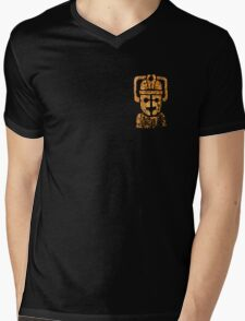 Rusty the Cyberman, Small Chest Emblem Mens V-Neck T-Shirt