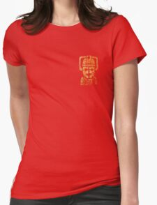 Rusty the Cyberman, Small Chest Emblem Womens Fitted T-Shirt