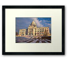 Rhode Island State House - South Facade Framed Print