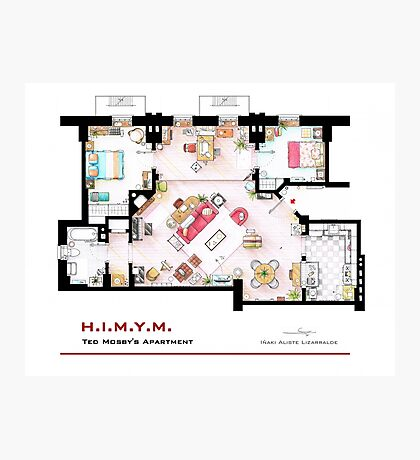 Ted Mosby's apartment from 'HIMYM' Photographic Print