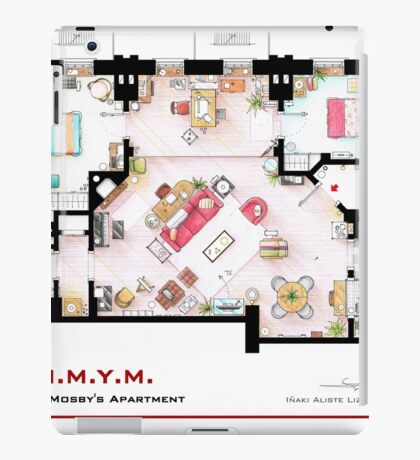 Ted Mosby's apartment from 'HIMYM' iPad Case/Skin