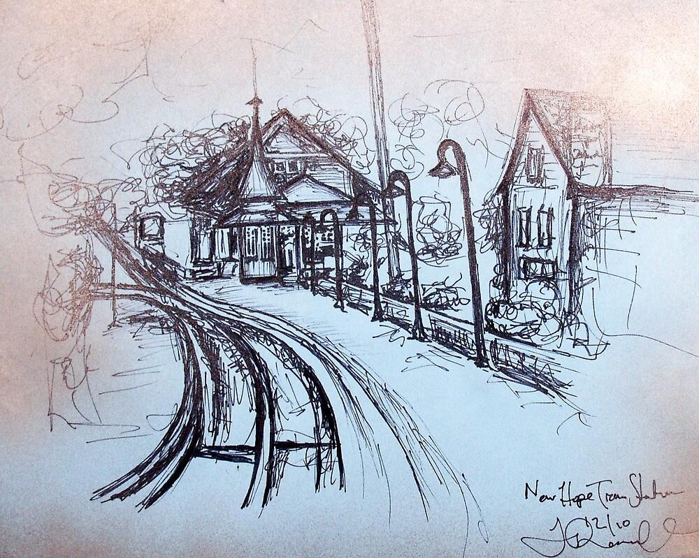 New Hope Train Station by Tiff Randol