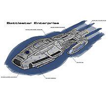 Battlestar Enterprise NX-1701-F Photographic Print