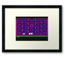 Lost 80s - Where is my Pac-Man? Framed Print