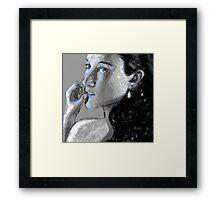 Kel Blue, too! Framed Print