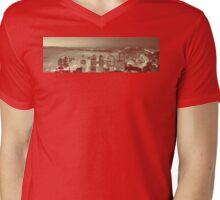 Love Seattle Panorama Mens V-Neck T-Shirt