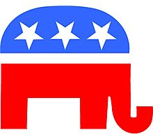 Republican Elephant Photographic Print