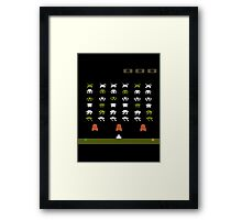 Lost 80s - Where is my Space Invaders? Framed Print