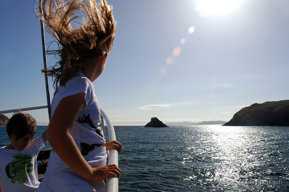 Wild Child - approaching the Stag Rocks, West Cork by Orla Flanagan