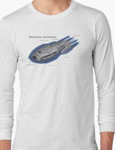 Battlestar Enterprise NX-1701-F Long Sleeve T-Shirt