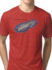 Battlestar Enterprise NX-1701-F Tri-blend T-Shirt