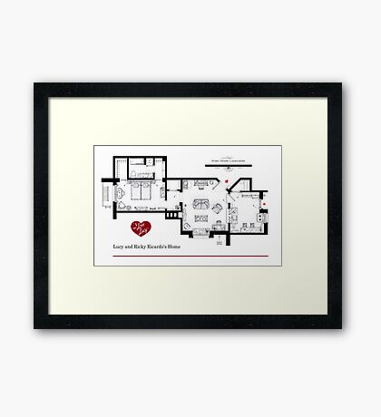 Lucy and Ricky Ricardo's apartment Framed Print