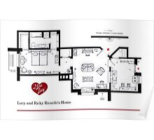 Lucy and Ricky Ricardo's apartment Poster