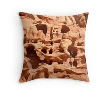 wheathered stone Throw Pillow
