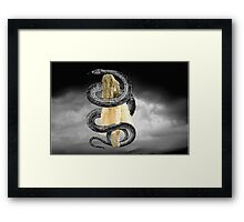Caught in a Trap Framed Print