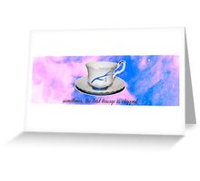 Rumbelle TeaCup Greeting Card