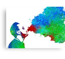 Watercolor Vaping Man Canvas Print