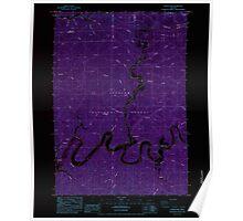 USGS Topo Map Oregon North Fork 280933 1984 24000 Inverted Poster