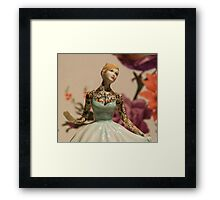 Tattooed Lady by Jessica Harrison at Banksy's Dismaland Framed Print