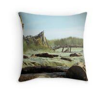 Driftwood Fort Throw Pillow