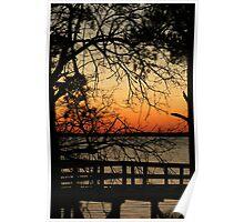 Riverfront Park Sunset Poster