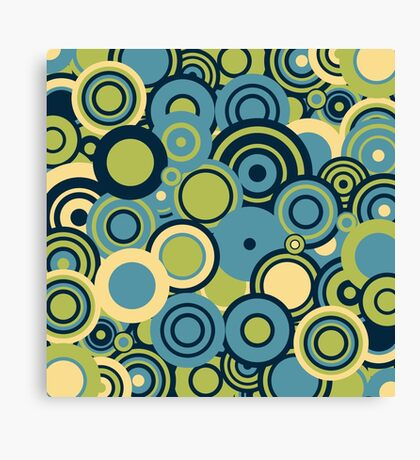 Circledelic - blue/green Canvas Print