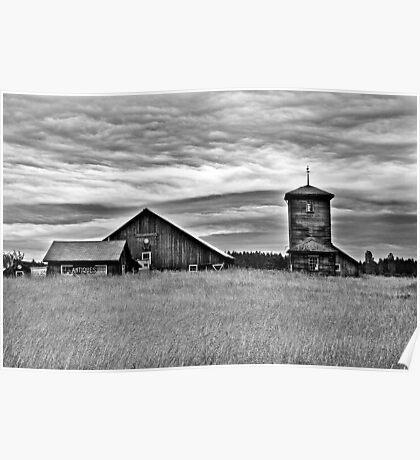 Old Barns Poster