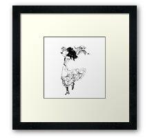 Scribbler dancer Framed Print