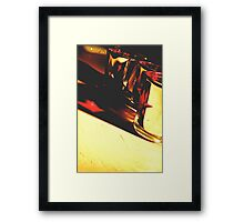 There's always a light in the dark. Framed Print