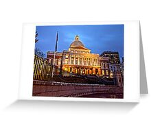 Massachusetts State House - After Dark Greeting Card