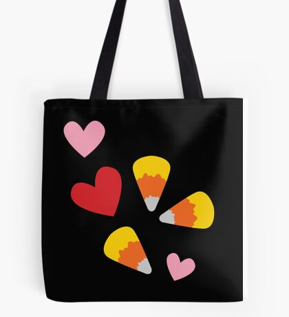 Candy Corn Halloween Hearts Tote Bag