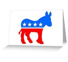 The Democratic Donkey Greeting Card