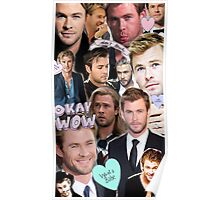 Chris Hemsworth Collage Poster