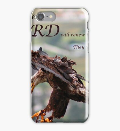 Flying Eagle Bible Verse iPhone Case/Skin