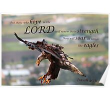 Flying Eagle Bible Verse Poster