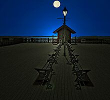 The Moonlit Pier by Tsitra