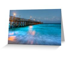 The Pier HDR Greeting Card
