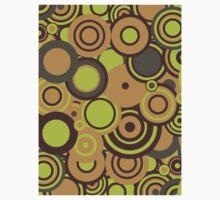Circledelic - mint/choc/orange One Piece - Short Sleeve