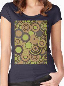 Circledelic - mint/choc/orange Women's Fitted Scoop T-Shirt